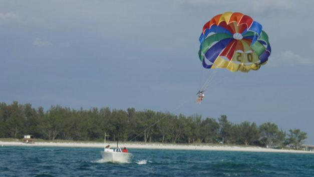 parasail on our beach