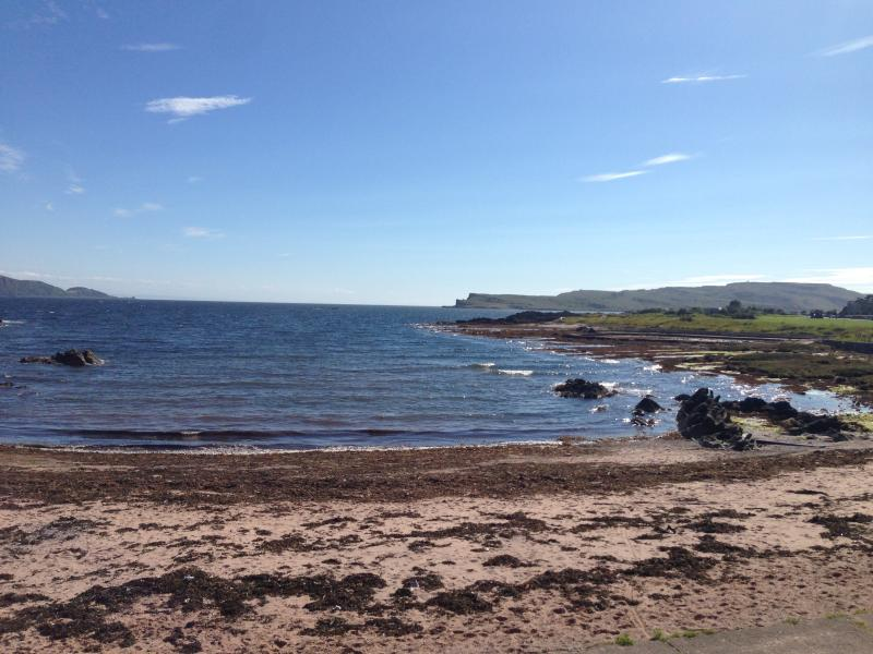 Secret beach just round the corner from Millport Beach Apartment, Crichton St