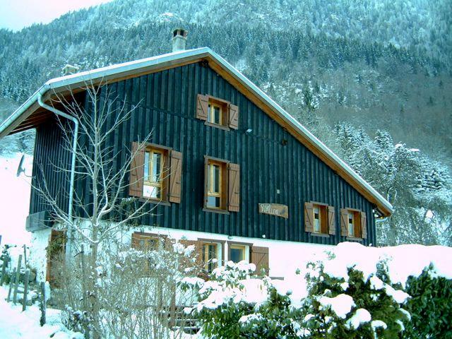 Chalet Papillon in winter, electric heating and two log burners so warm and cosy