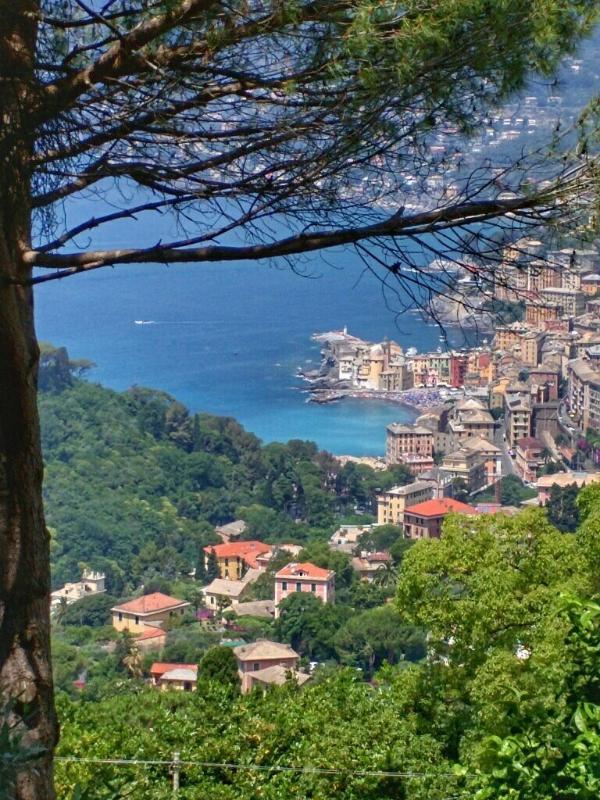 Camogli Ansicht von einem schönen Panorama zu Fuß in der Nähe der Wohnung