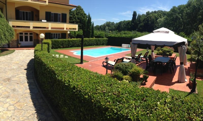Villa, garden and pool