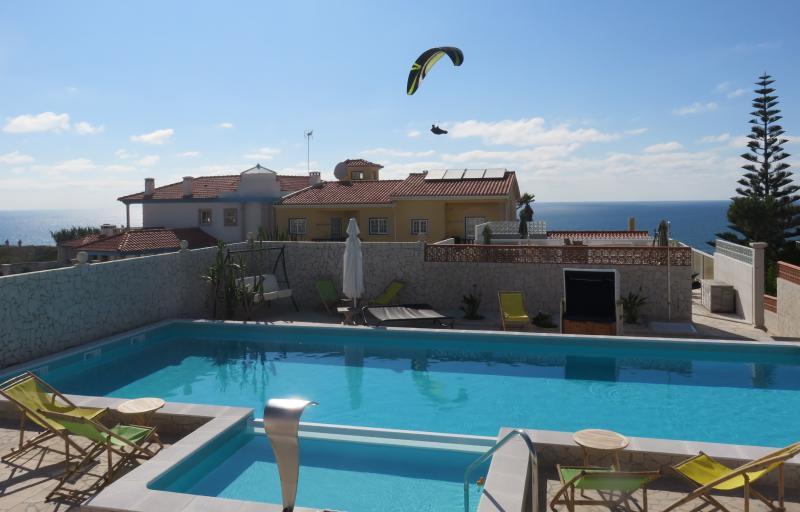 The fantastic pool area of the Casa da Mina