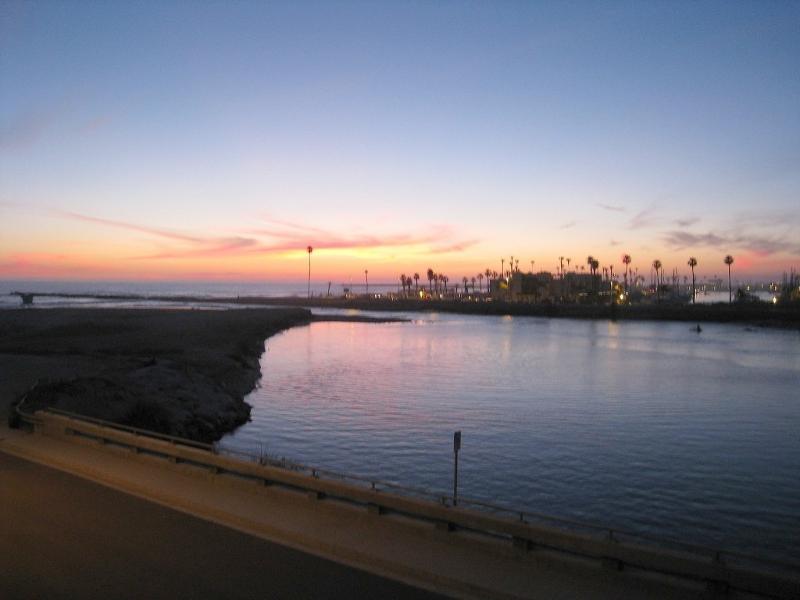 coucher de soleil vue du pont