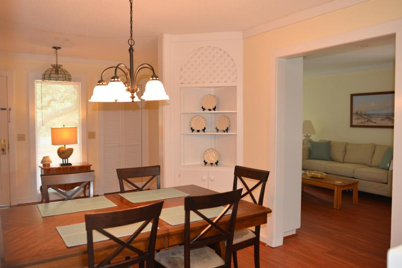 Dining Room, opening into the Front Entryway and the Living Room