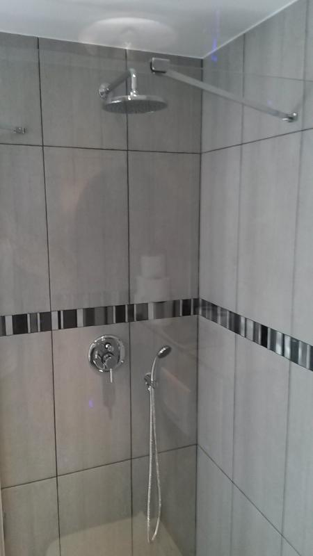 Walk-in tropical shower