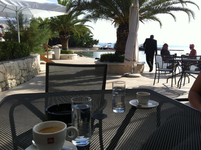 Beach bar at the Le Meridian Hotel's beach