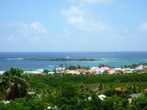 Vue du village Orient Beach