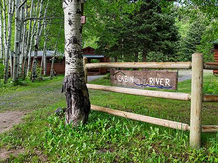 Entrance Cabin On The River awaits you!