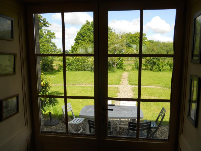 Vista del jardín desde el salón