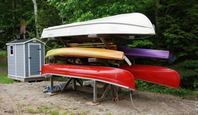 canoes, kayaks, paddle and fishing boats available