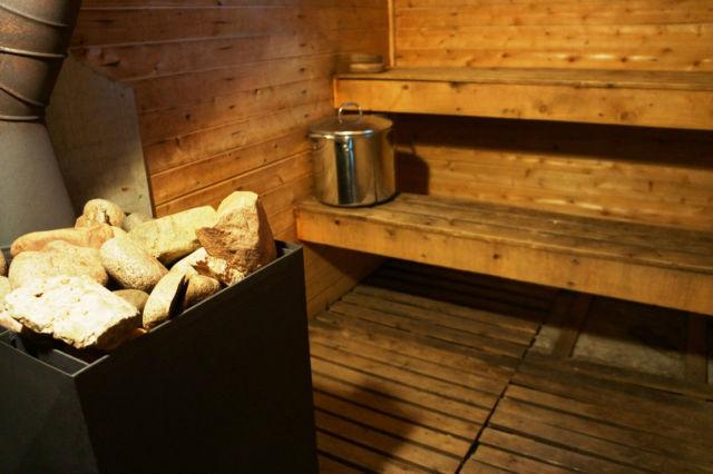 Finnish wood burning sauna