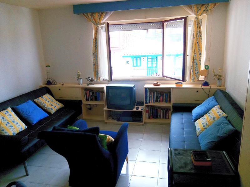 Sala-comedor practicable con dos sofá-cama de 108x195
