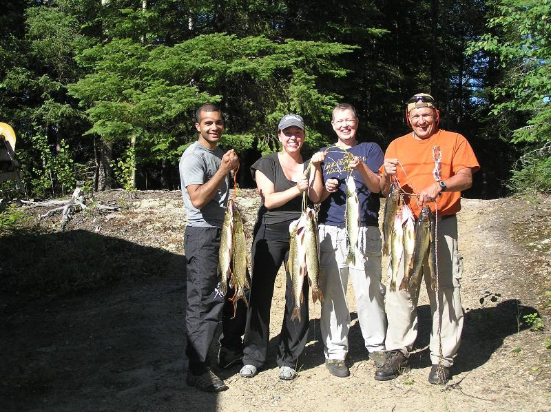 Viaje de pesca familiar