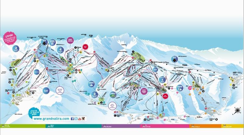 Ski slopes of grandvalira