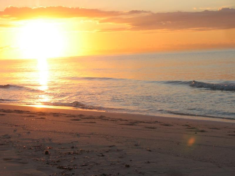 Svegliarsi con una spettacolare alba (questa foto scattata nel mese di ottobre)