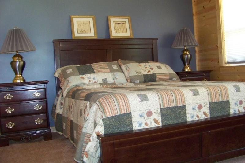 Master Suite with queen size bed and on-suite bathroom