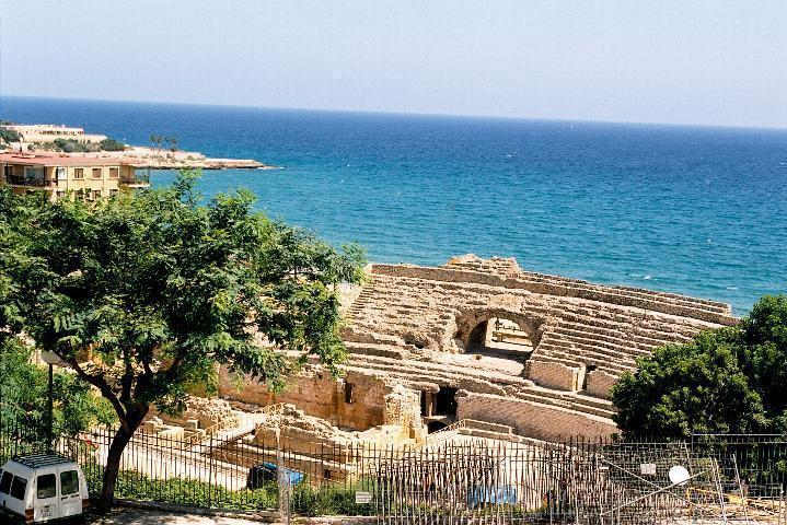 Views from the Roman amphitheatre in Tarragona.