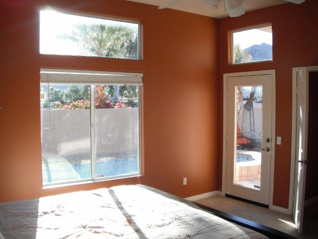 Master bedroom window & door to pool (there is blinds.....need updated pic).