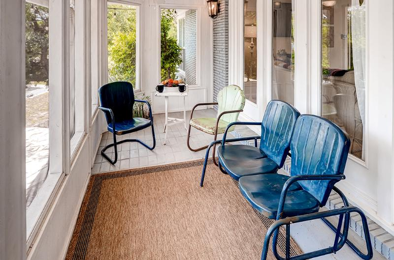 The screened in back porch is a great place to relax first thing in the morning and early evening!