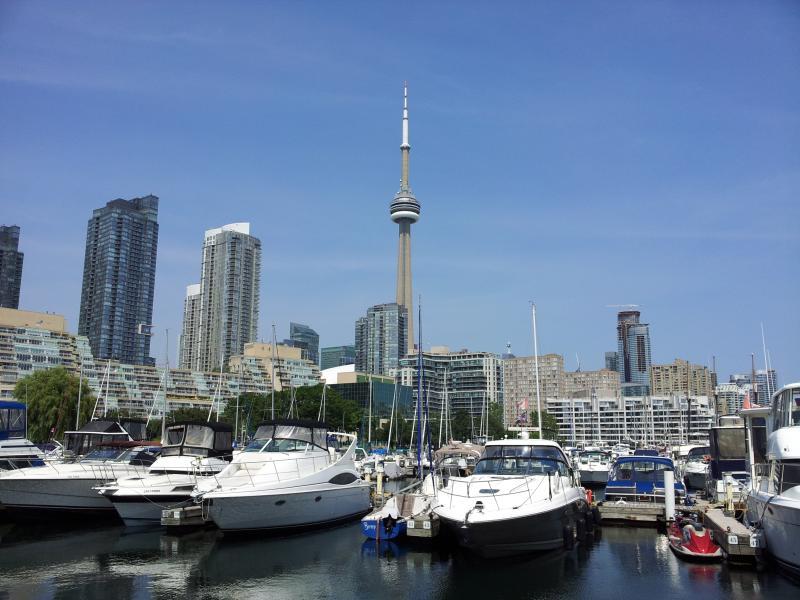 Uitzicht op de jachthaven ligt in het hart van de binnenstad van Toronto