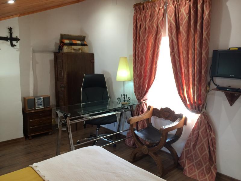 Attic bedroom, work area