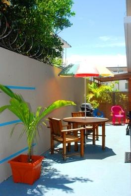 Outside area. I need to update photo, actually new BBQ and metal table.