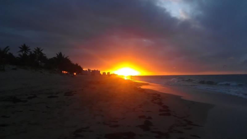 Sunset at Ocean Park beach.