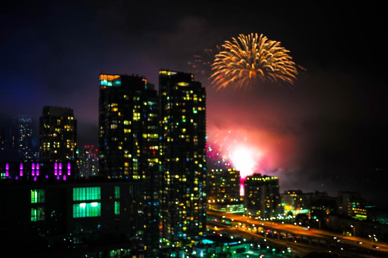 Happy 148th Birthday My CANADA! - Canada Day Fireworks from Balcony
