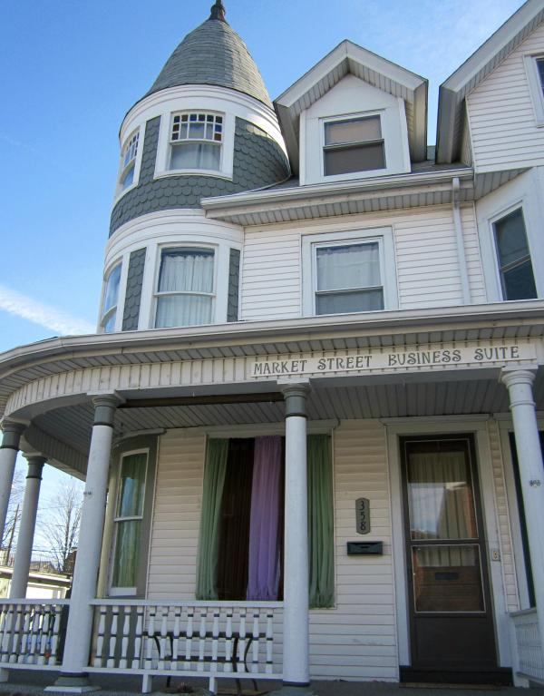 3-story Victorian home in quaint Millersburg, Pa. Suite is on first floor, thru front porch door.