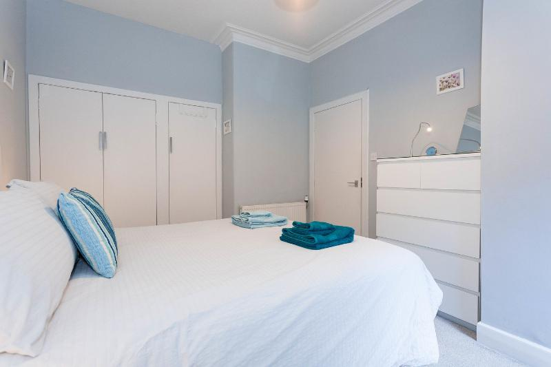 The Master Bedroom with hotel quality king-sized bed which can be split into two singles if desired