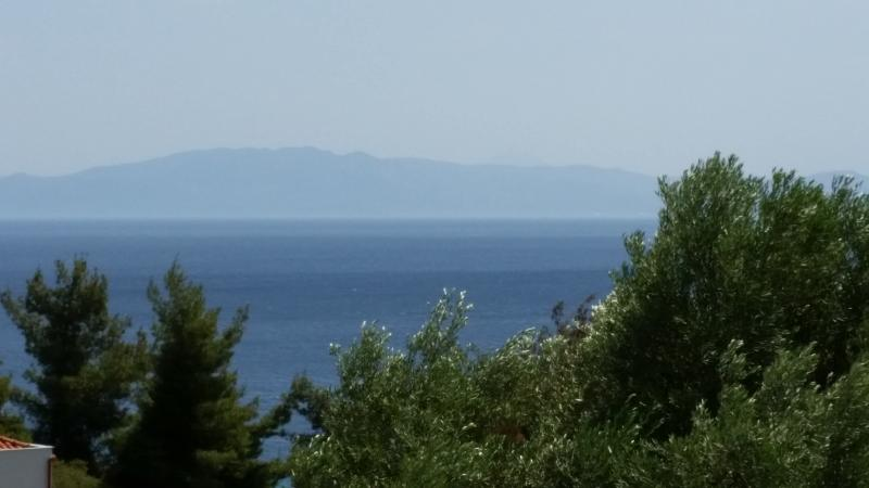 Balcony view of sea and Sithonia