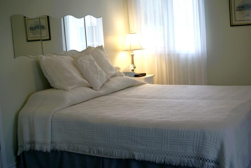 King bed in Waterview Suite