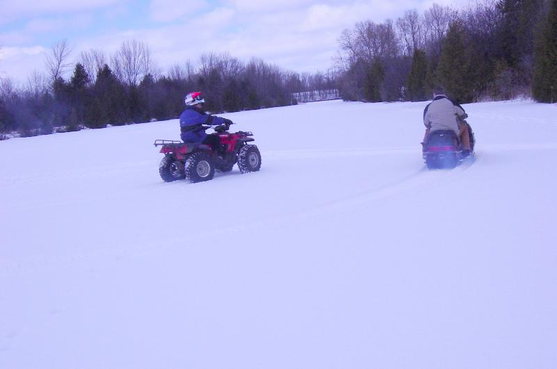 Trent Canal is ideal for snow machines, skiing etc