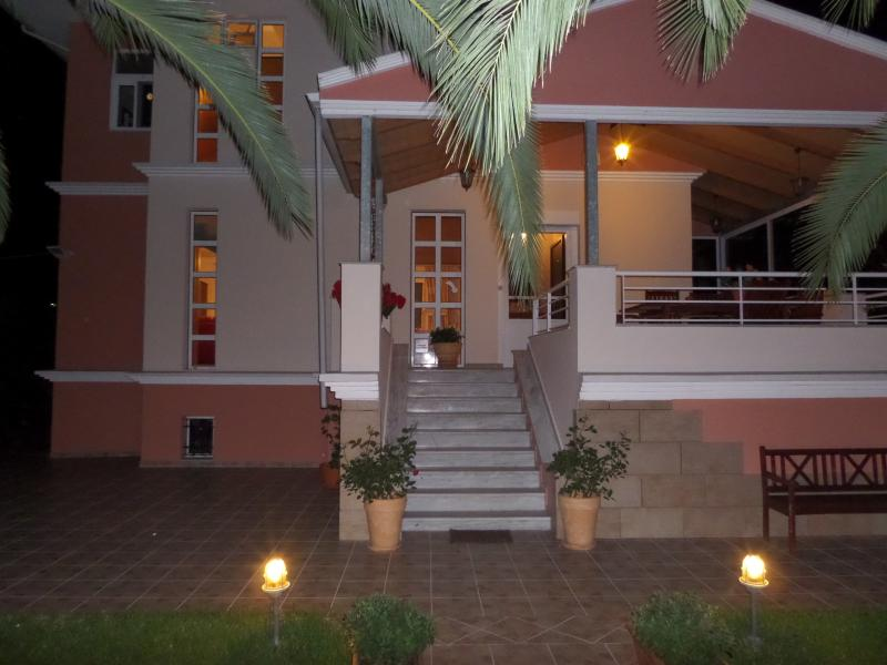 night view entrance