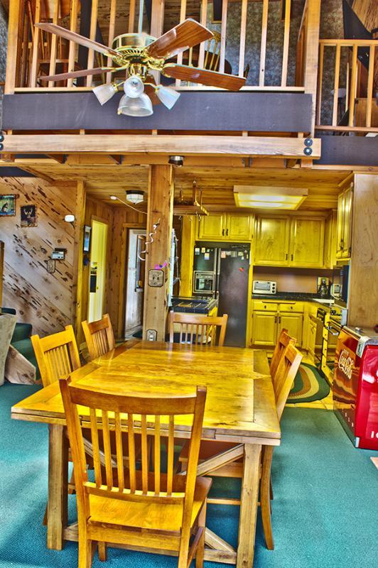 Upstairs loft above kitchen overlooking Living Area