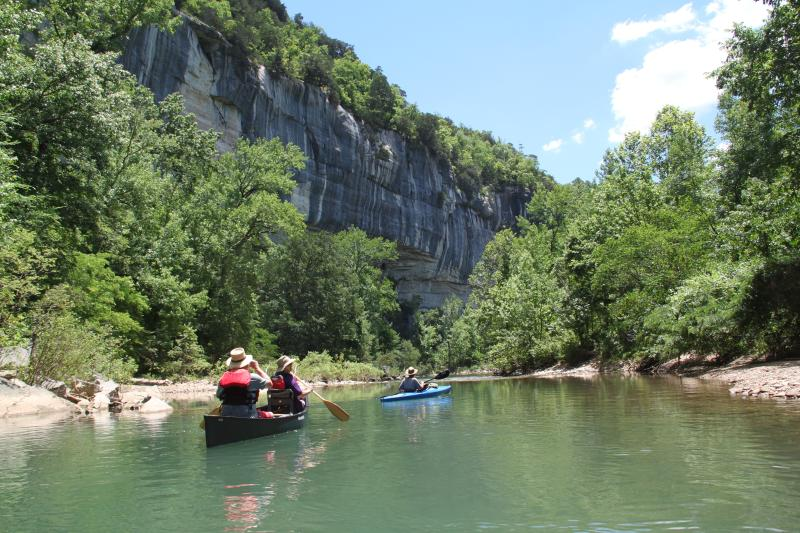 Buffalo National River, one of the most scenic canoeing spots in the area, is only an hours drive.