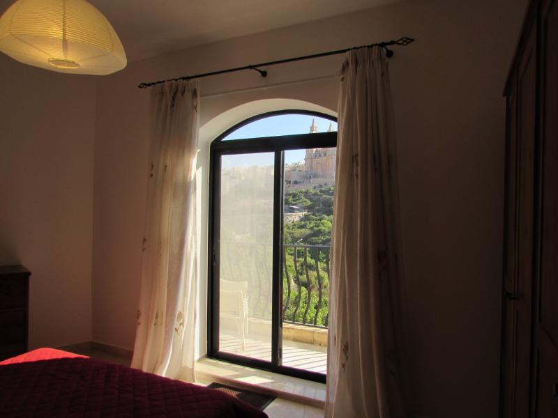 Main bedroom with balcony facing Mellieha church