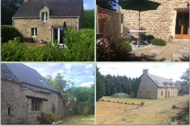 Cottages for rent for friends/family, location de vacances à Cleguerec