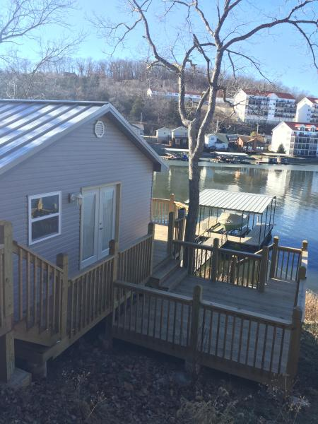 Welcome, come in these sliding glass doors or walk on down to the dock!