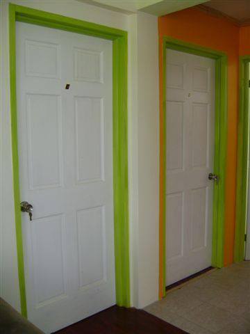 Entrance to bedrooms in Apartment 1