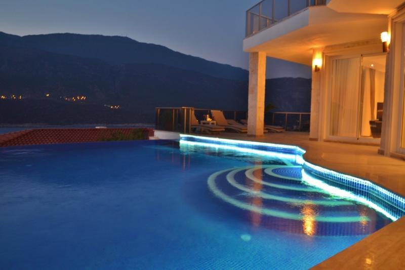 Turtle Bay pool at night