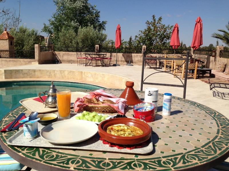 Frühstück am Pool.