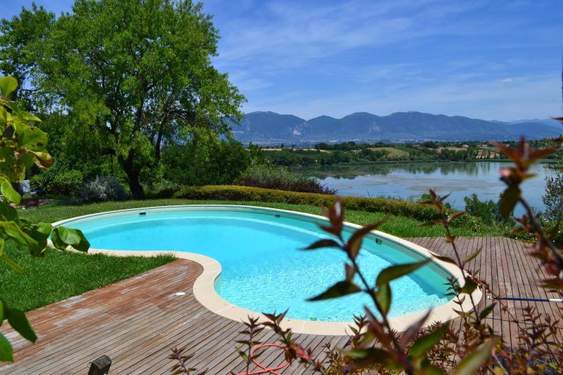 pool overlooking the lake