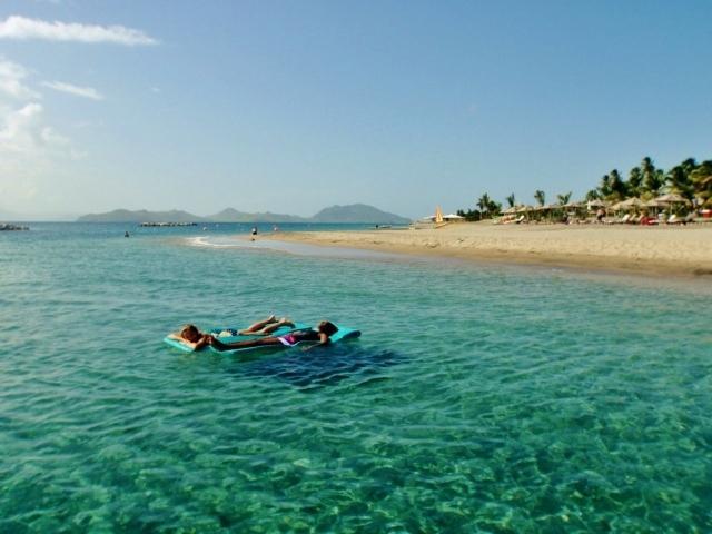 A beautiful beach on Nevis to enjoy on your Nevis island tour.