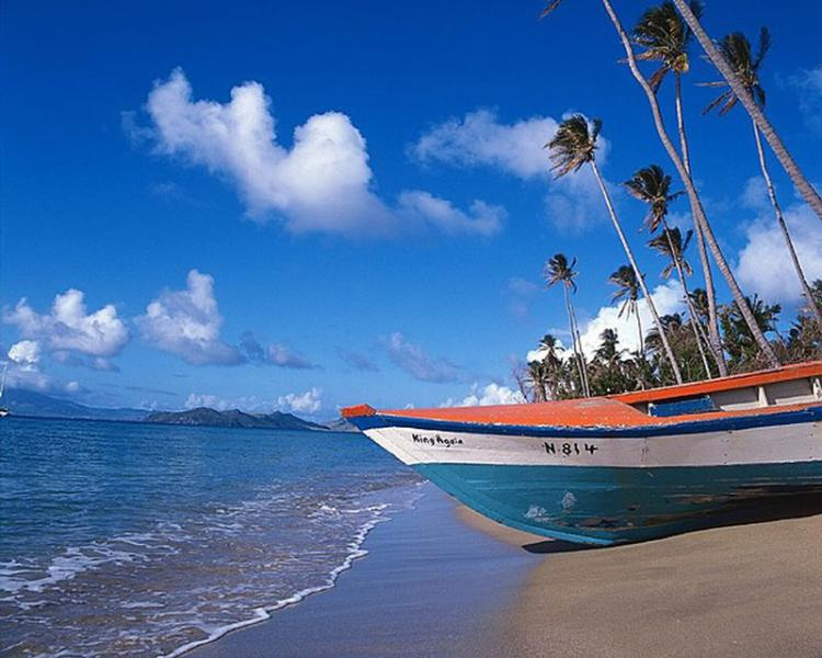 A beautiful beach on Nevis, great for exploaring on your Nevis island tour.