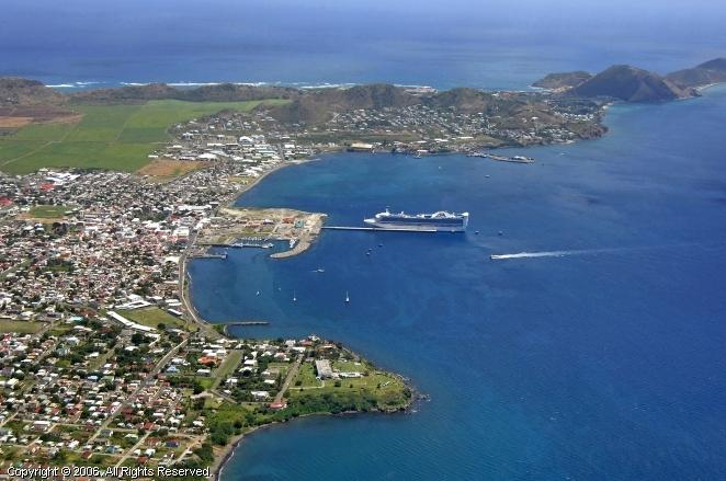 The Capital Basseterre with great shopping, 30 minutes drive from Ocean Song Villa.