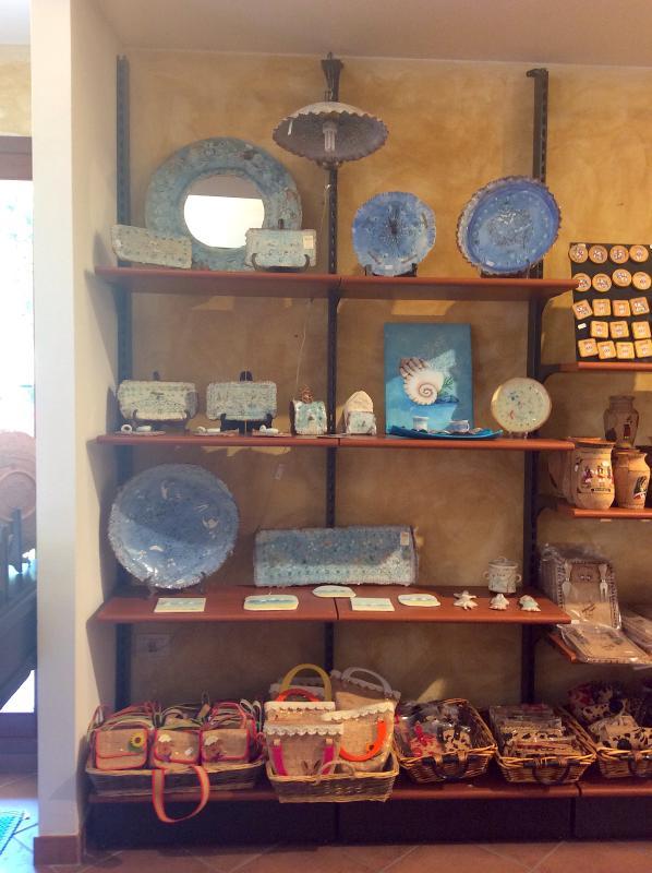 Luigi's and Rita's shop for original sardinian handcraft