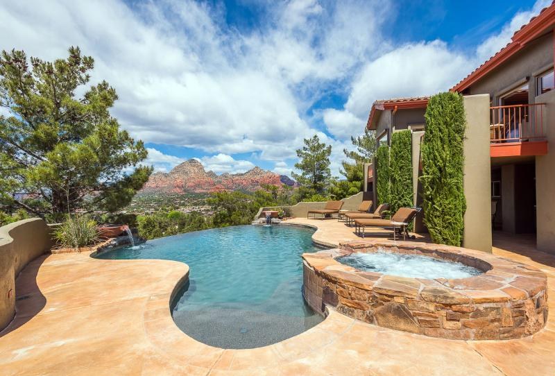 Your own private pool and spa with red rock views
