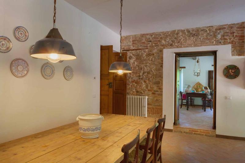 La sala da pranzo e soggiorno