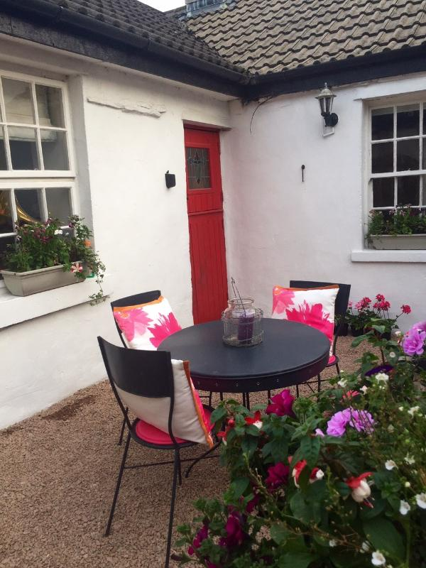 The courtyard at Rose Cottage - sheltered and private and a great sunny spot